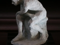The Thinker 33x24x22cms ceramic on a marble base