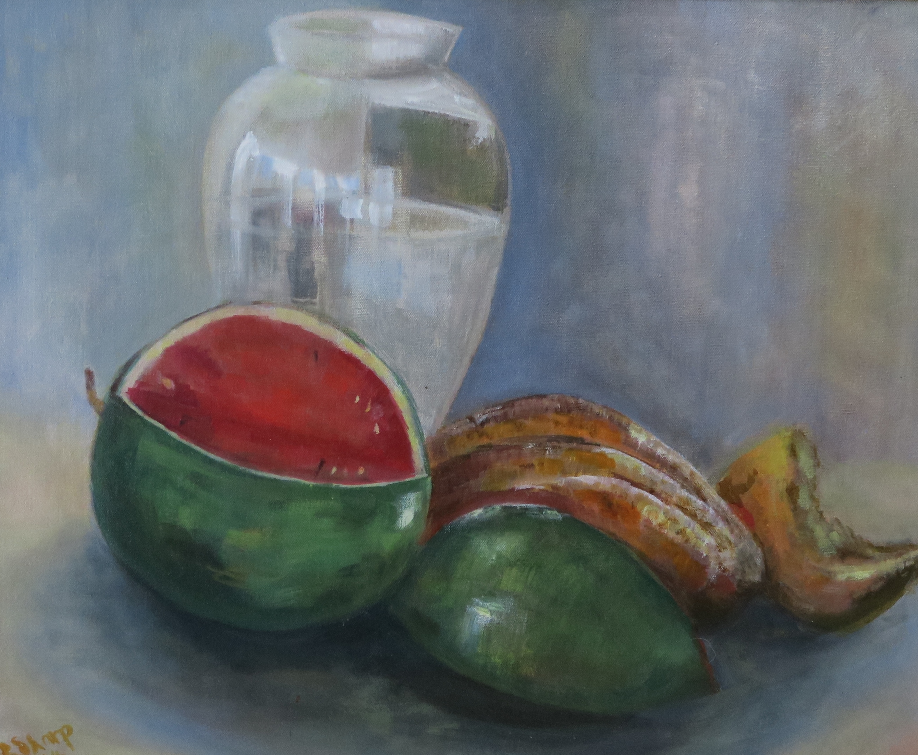 IMG_007Still life with melon 62x73 fr